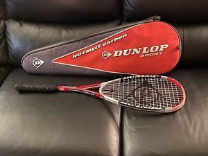 Squash Dunlop HotMelt Carbon Squash Racquet w Carrying Bag - HS 500cm Sq