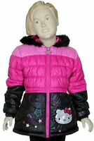 Hello Kitty Infant/Toddler Girl's HK032 Pink Puffer Hooded Winter Jacket Sz. 2T