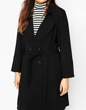 Women's Plus Size Polyester Double Breasted Trench Coats, Macs Coats & Jackets