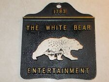 Vintage metal plaque 1783 The White Bear Entertainment