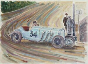 Artimotor - acrílico 31x23 / 1929 Caracciola (Mercedes SSK) Gp.Monaco