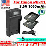 US! For Canon NB-11L Battery or LCD Charger NB-11LH Canon ELPH 180 ELPH 190 WM