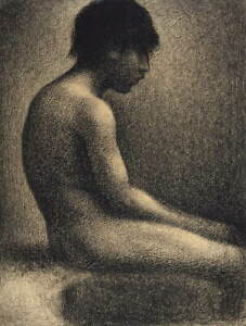 Georges Seurat Seated Nude- Study for Une Baignade Giclee Paper Print Poster