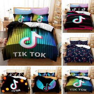 3D Tik Tok Duvet Quilt Cover Popular Bedding Set Comforter Cover Pillowcase