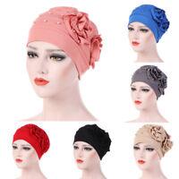 Donne perline cappello cancro chemio Beanie sciarpa turbante Berretto inverno