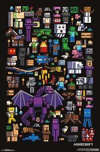 Minecraft Poster Mobbery 55,9 x 86,4 cm Plakat Wanddeko Wandbild Dekoration Deko