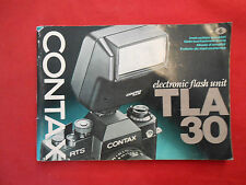 Manual Contax TLA 30 Instructions Manual ca.17x12cm