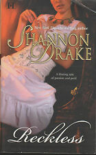 Reckless Shannon Drake HQN Historical Romance good condition paperback
