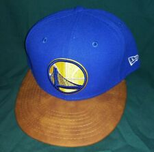Golden State Warriors New Era 9Fifty Team Butter Leather Hat Cap SnapBack