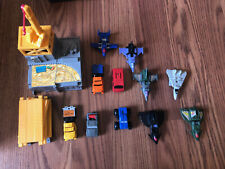 Vintage Hasbro Mini Transformers Lot - 6 Planes, 5 Trucks, and Construction Set
