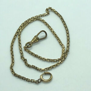 pocket Watch Gold Tone Chain 15 Inches