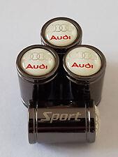 AUDI S5 Sport Titanium Grey Premium Alliage Valve Dust Caps tous les modèles