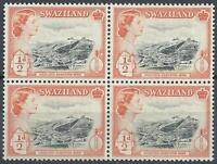Swaziland 1956 Sc# 55 Asbestos mine Havelock Elizabeth GB colony block 4 MNH
