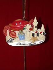 HILTON HOTEL HEAD ISLAND Sandcastle, Crab, starfish Christmas Tree Ornament