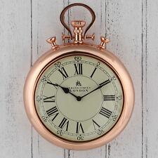 Copper Stopwatch 'Bond Street' Wall Clock High Quality & Unique 43cm