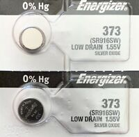 2-ENERGIZER 373 Battery SR916SW Free Ship USA. Best by 2023. Authorized Seller.