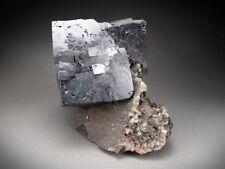 Galena Crystals on Matrix, Sweetwater Mine, Missouri
