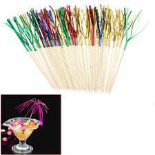 40 Pcs Cocktail Drink Stick Wedding Party Cafe Bar Fruit Canapes Decor Picks