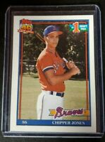 CHIPPER JONES ROOKIE CARD - 1991 TOPPS CARD #333  - ATLANTA BRAVES HOF
