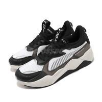 Puma RS-X Tech Running System Black Grey White Men Women Unisex Shoes 369329-01