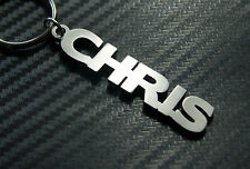 CHRIS Personalised Name Keyring Keychain Bespoke Key Fob Stainless Steel Gift