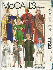 1981 McCall's Pattern #7733 Children's Girls & Boys Nativity Costumes Size Small