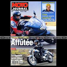 MOTO JOURNAL N°1218 YAMAHA YZF 600 R XTZ 660 KAWASAKI 1500 VULCAN LE TOUQUET '96