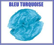 24 feuilles Papier de Soie Mousseline BLEU TURQUOISE
