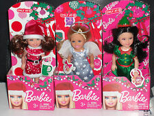 2013 SET OF 3 HOLIDAY CHRISTMAS CHELSEA DOLLS!! BARBIE COLLECTIBLES