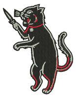 Cat Fink Iron On Patch Skater Custom Gasser Psychobilly Rockabilly Tiki Funko