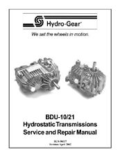 Hydro Gear BDU-10/21 Hydrostatic Trans Repair Manual