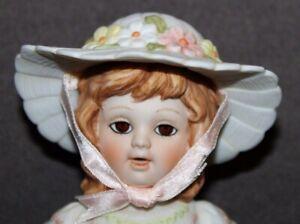 Vtg 1982 ENESCO Easter Doll THE VICTORIANS Porcelain