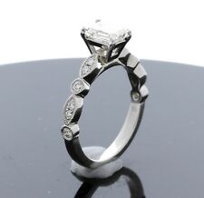 Platinum and Diamond Engagement Ring SETTING ONLY (Size 6.75) Sizable