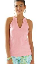 New Lilly Pulitzer Arya Tank Solid Hubba Bubba Sleeveless Top shirt Tee
