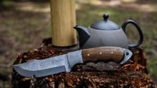 """Damascus Knife 10.5"""" Custom Handmade Forged Knife Damascus Steel Skinning Knife"""