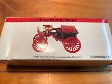 2000 Readers Digest 1908 Replica Horse Drawn Pumper Fire Truck W Box
