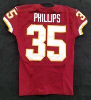 #35 Dashaun Phillips of Redskins NFL Locker Room Game Issued Player Worn Jersey