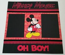 Disney Mickey Mouse 12x12 Scrapbook Page Layout Add 2 Shadow Box or Frame 4 Gift