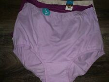 Vanity Fair ~ 3 Women's Brief Underwear Panties Pink Purple Beige Cotton ~ L/7