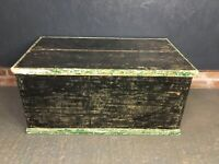 Vintage Wooden Trunk Chest Blanket Box Coffee Table Toy Box
