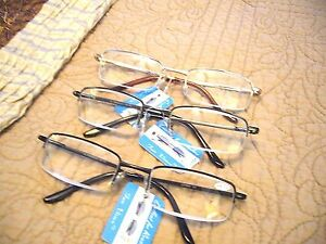 "MEN'S ""EXTRA HIGH STRENGTH"" READING GLASSES (4.50-7.00) 3-COLORS ( R-456 )"