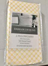 Charter Club Damask Designs Printed Standard Pillowcase Pair, 500 Thread NEW