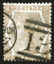 Great Britain Stamp 1872 6d Queen Victoria Plate 11 Scott # 59 SG122a Used