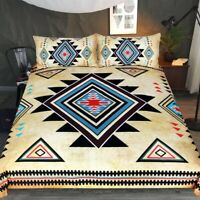 Gift Aztec Geometric Diamonds Triangles Bedding Duvet Quilt Cover Set Pillowcase