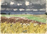 Karl Adser 1912-1995 Öland Schweden Wiese Blühende Blumen Küste Skandinavien