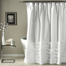 Shabby Chic Shower Curtain Clawfoot Tub Bathroom Decor Romantic Bath Curtains