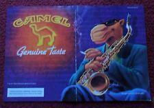 1994 Print Ad Camel Cigarettes ~ Joe Camel Jazz Saxophone 2-Page ART