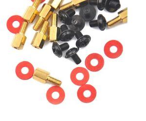 10x 6.5mm Brass Standoff 6-32 M3 PC Motherboard Riser + Screws + Washers
