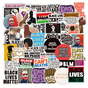 50pcs Black Lives Matter Fist BLM I Cant Breathe George Floyd Luggage Laptop Car