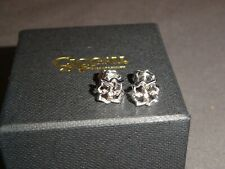 Clogau Welsh Silver & Rose Gold Tree of Life Stud Earrings